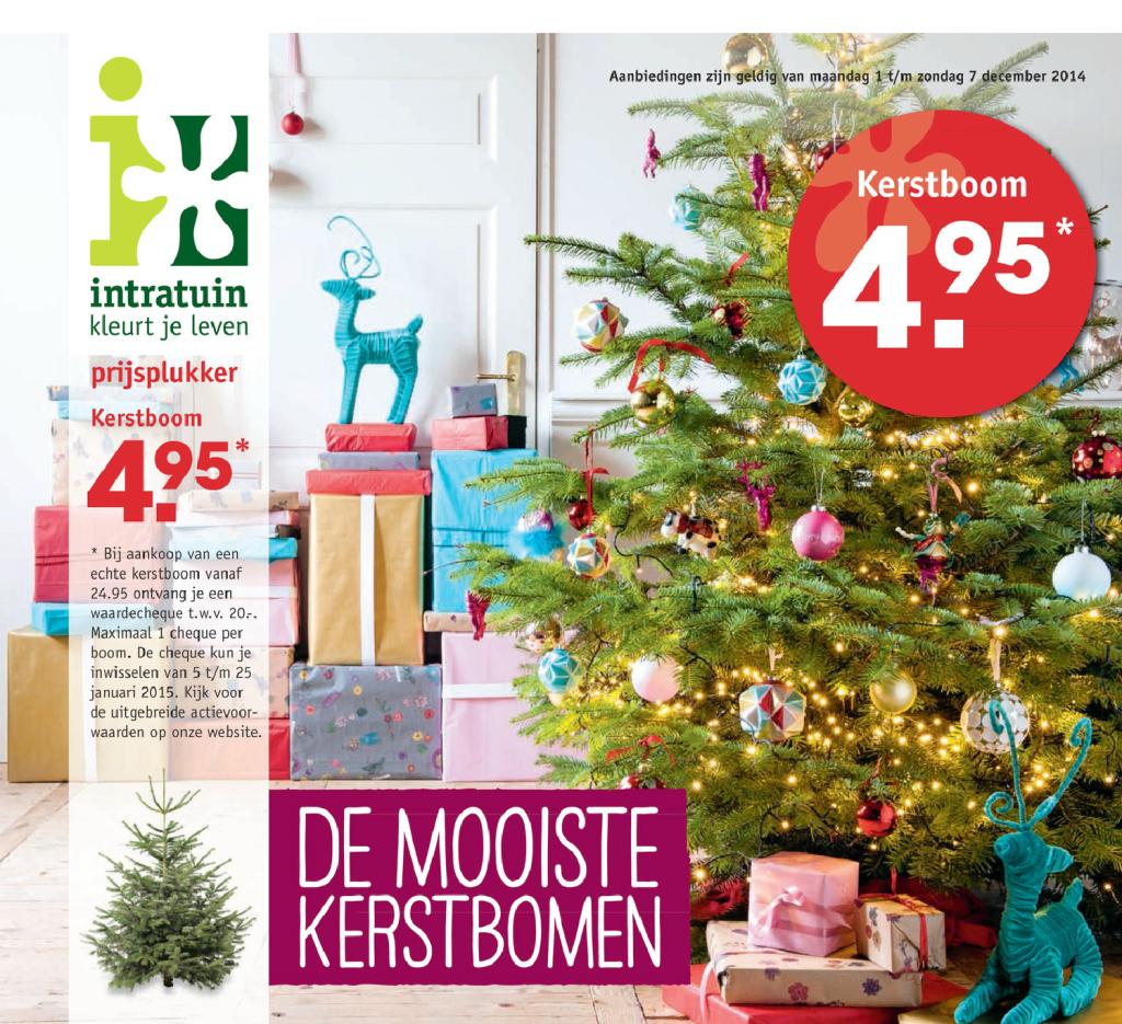 20 Euro Korting Op Kerstbomen Bij Intratuin Kerstboomprijzen Nl