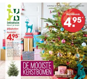 Intratuin kerstboom actie 2014