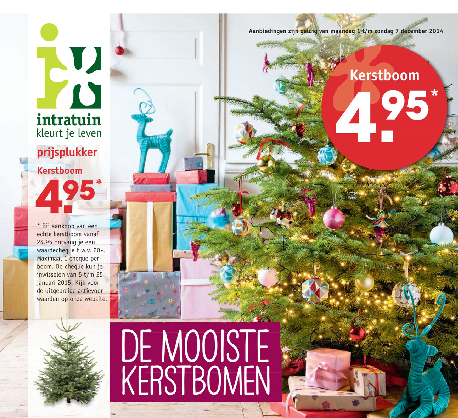 Fabulous 20 euro korting op kerstbomen bij Intratuin - Kerstboomprijzen.nl NO68