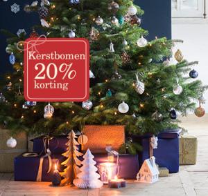 20 procent korting kunstkerstbomen 2015