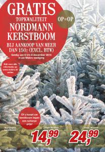 Makro kerstboom actie 2014