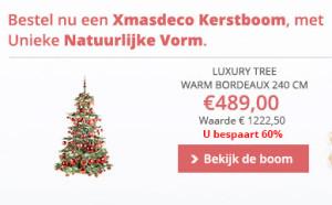 65% korting kerstboom met versiering
