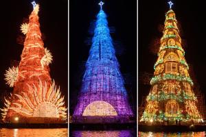 Grootste drijvende kerstboom ter wereld Rio 2015