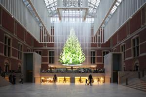 Holografische kerstboom Rijksmuseum