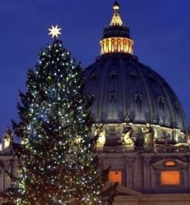 Kerstboom Sint-Pietersplein Rome