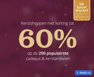 Kerstshoppen met 60 procent korting 2015