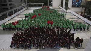 Thais record voor grootste menselijke kerstboom