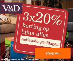VenD 20 procent korting