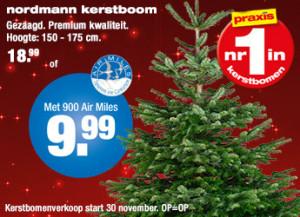 Nordmann kerstboom korting Airmiles Praxis