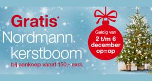 makro weekendactie kerstboom gratis Nordmann