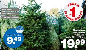 praxis air miles korting nordmann kerstboom 2015