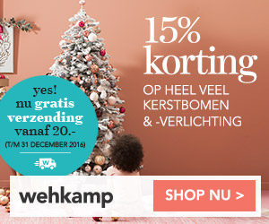 wehkamp 15 procent korting kerstbomen