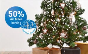 50 procent korting kunstkerstbomen
